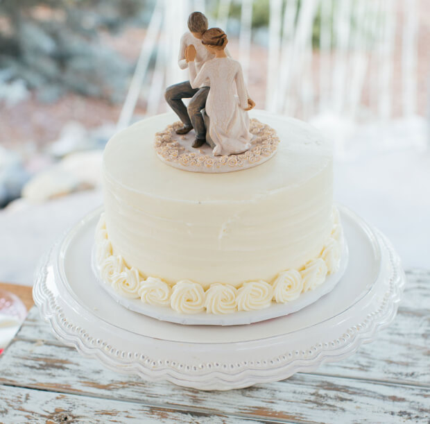bruidsbeurs bruidstaart