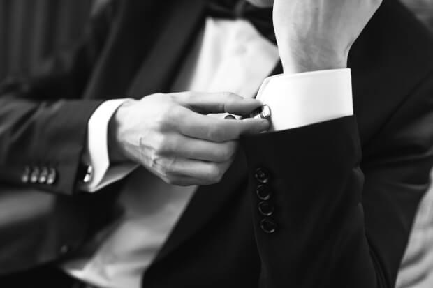 Een smoking-hip huwelijksfeest
